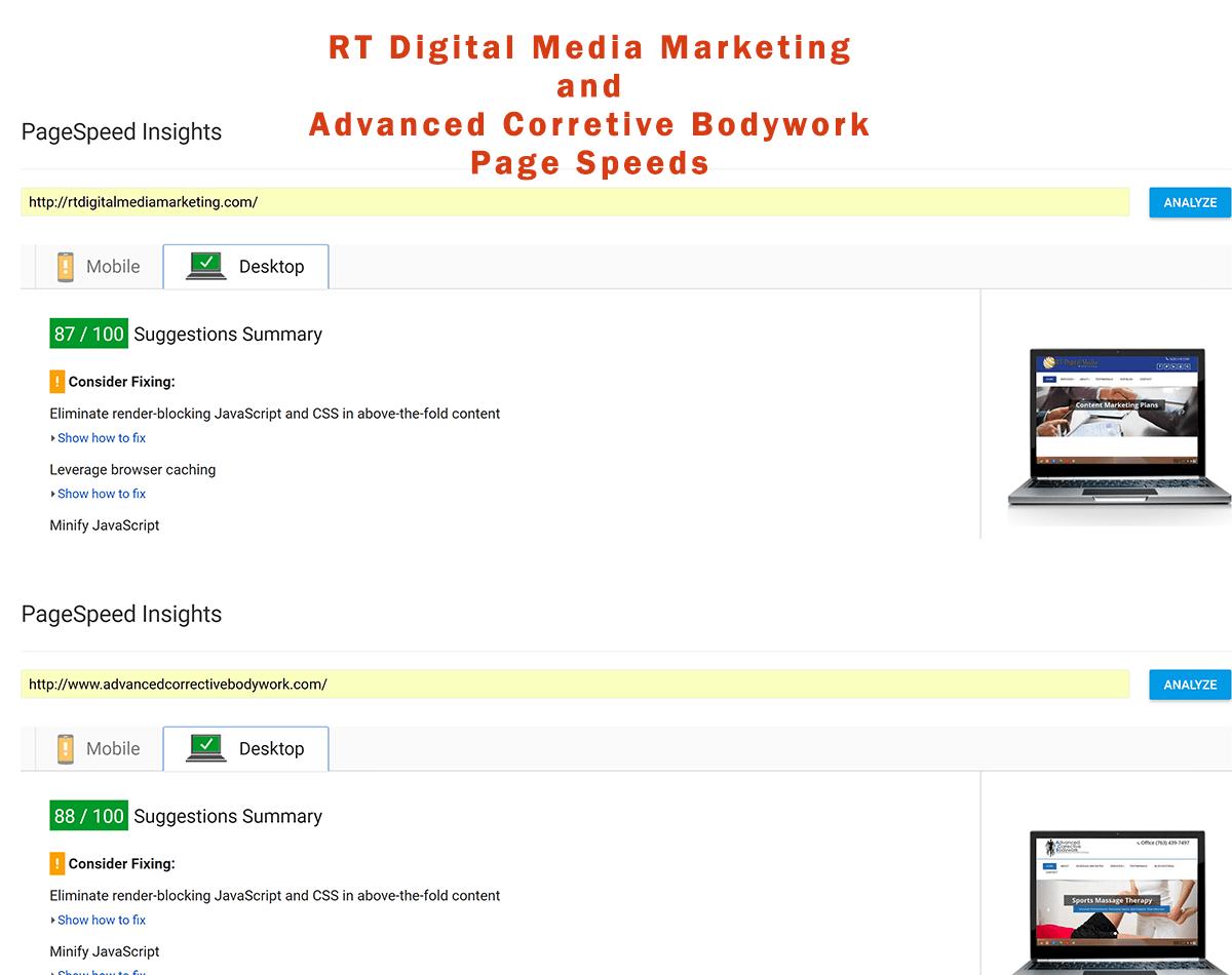 RT Digital Media Marketing - Page Speed